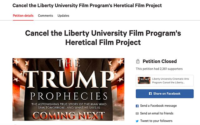 Liberty Film Students Protest Trump Movie