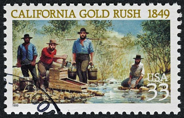 California gold rush began