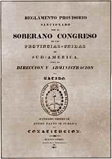 Reglamento provisorio para el ordenamiento y la administración de los poderes del Estado