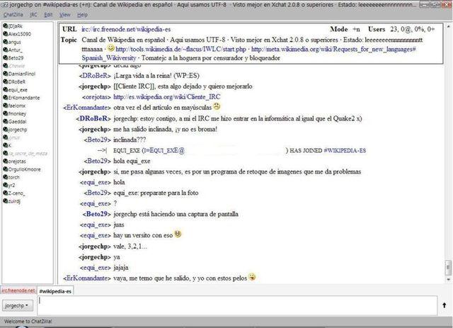 IRC  protocolo de comunicación