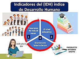 Indice de desarrollo humano y sus componentes son: