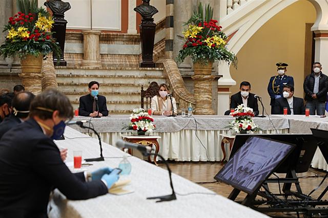 Inicia mesa de diálogo convocada por presidenta Áñez con TSE y movimientos políticos y sociales