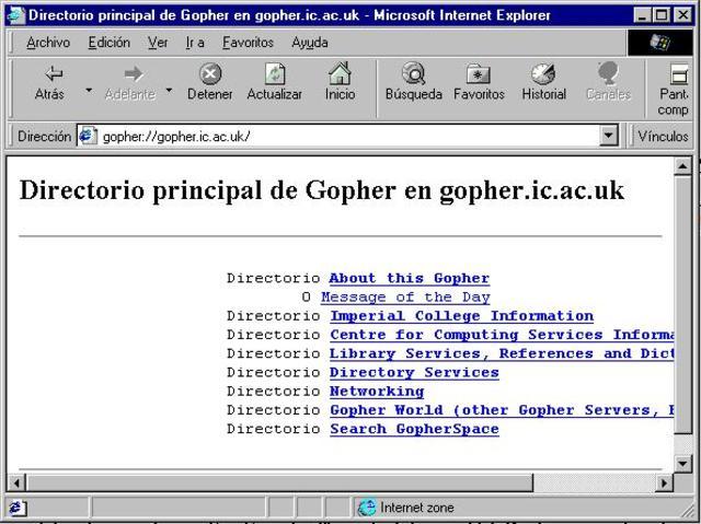 Creacion del Gopher