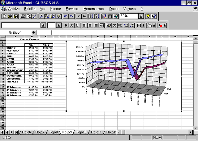 EXCEL 8.0 EXCEL 97