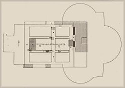 Construction du temple romain de la triade Capitoline.