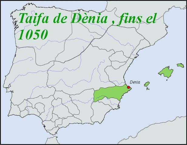 Mallorca dins del taifa de Dènia