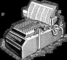 1888 Primera sumadora de teclas
