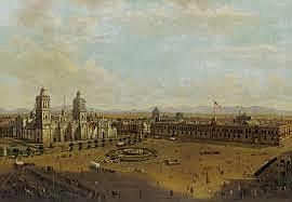 GRAN PLAZA DE LA CIUDAD DE MÉXICO DESPUÉS DE LA OCUPACIÓN ESTADOUNIDENSE EN SEPTIEMBRE DE 1847