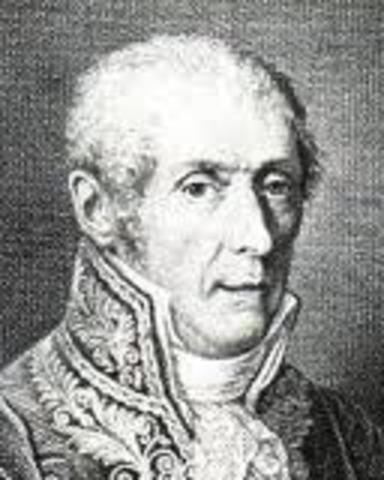 The death of Alessandro Volta