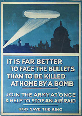 The Zeppelin hits London