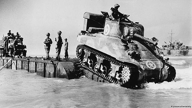 tropas aliadas desembarcam