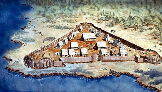 The settlement of Jamestown