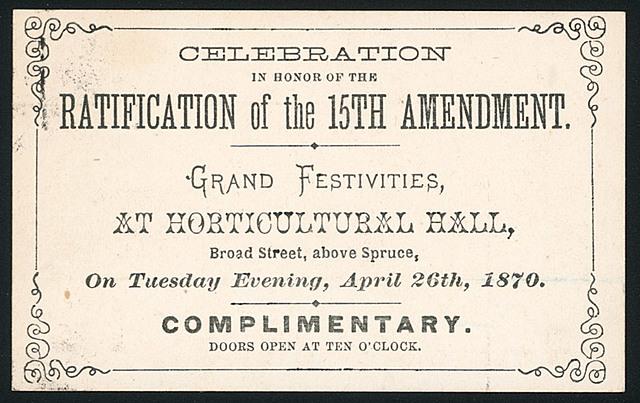13th, 14th, 15th Amendments