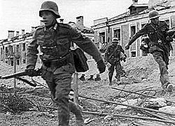 Tropas alemãs são cercadas em Stalingrado.