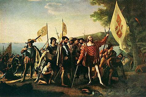 Columbus arrives in America