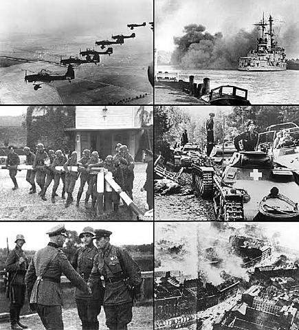 Tropas da Alemanha invadem a Polônia. Começa oficialmente a Segunda Guerra Mundial.