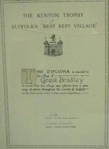 Winner Suffolk Best Kept Village, Novice Class