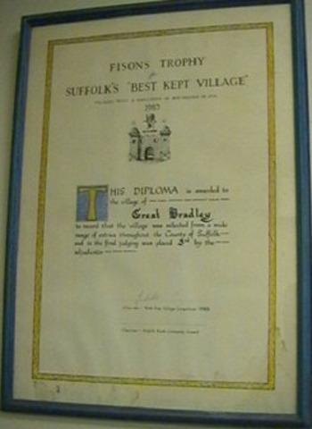 Winner of Suffolk Best Kept Village, Novice Class