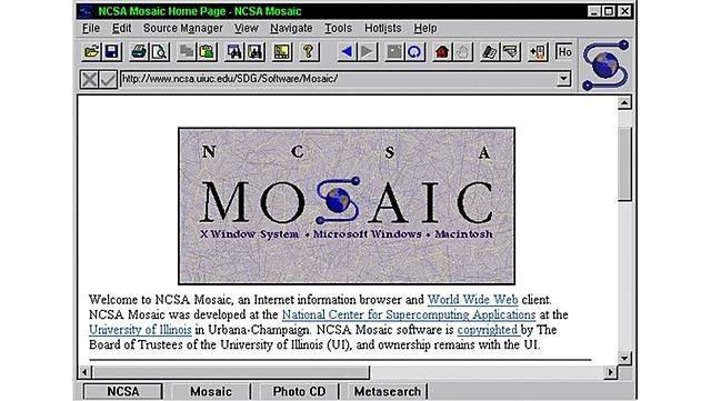 Mosaic, primer navegador que popularizó el uso de la web