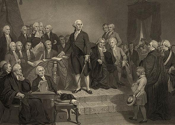 Inauguration of President George Washington