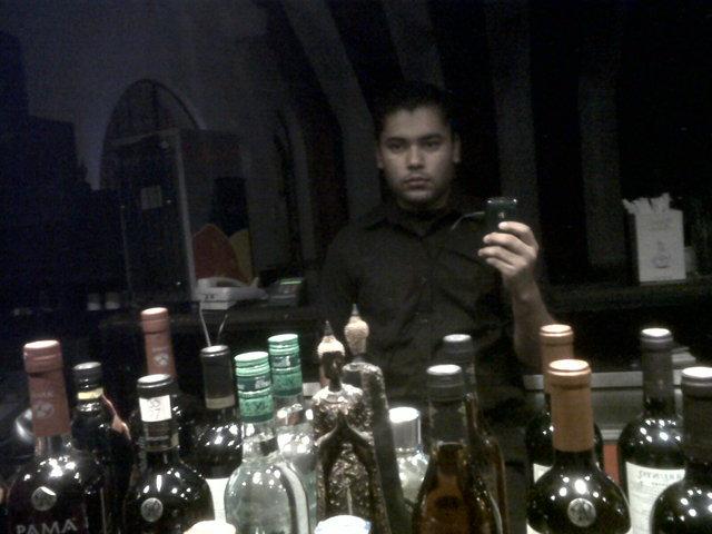 Trabajando de Bartender