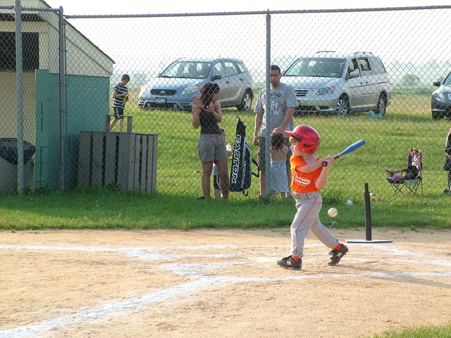Pitched To Aiden At His T-Ball Game