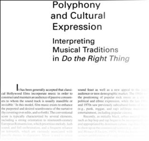 Scholarly Article about Film's Music