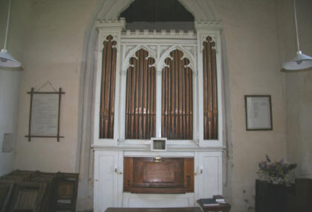 Organ moved here from Walberswick    (St Andrew's Church)