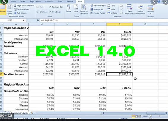 EXCEL 14.0