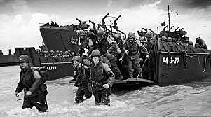 - Dia D, os aliados desembarcam na Normandia.
