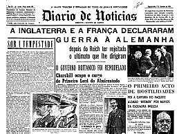 França e Inglaterra declaram guerra à Alemanha.