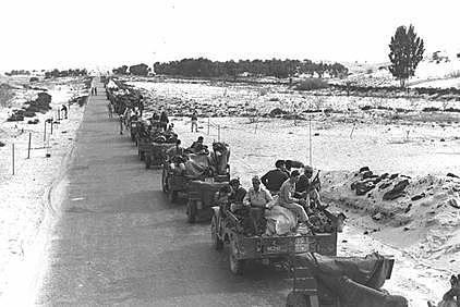 A Alemanha envia tropas para a Líbia para invadir o Egito.