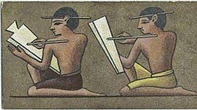 Anotación de las entradas y los gastos en Egipto