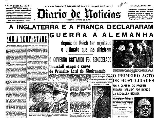 3 de setembro - França e Inglaterra declaram guerra à Alemanha.
