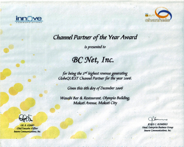 Innove Communications recognition