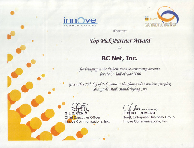 Innove recognition
