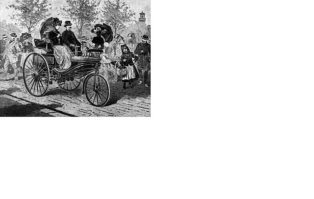 El primer automóvil con motor de combustión interna