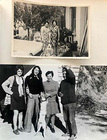 Alice, Marceau, Claudine enceinte et Christine