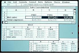 la primera versión de Excel