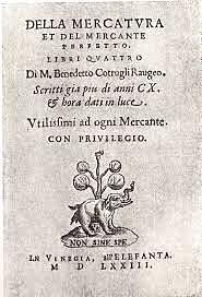 OBRA DE Benedetto Cotrugli Rangeo pionero en el estudio de la partida doble