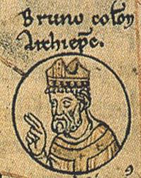 L'archevêque Bruno I rebaptise l'église « Sainte-Marie-du-Capitole » L'église devient un couvant de bénédictines.