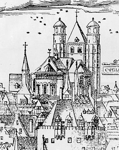 Représentation de l'église.