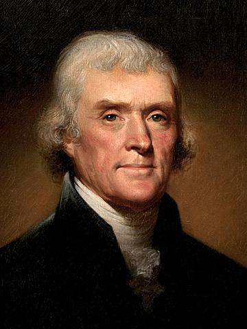 Thomas Jefferson elected president