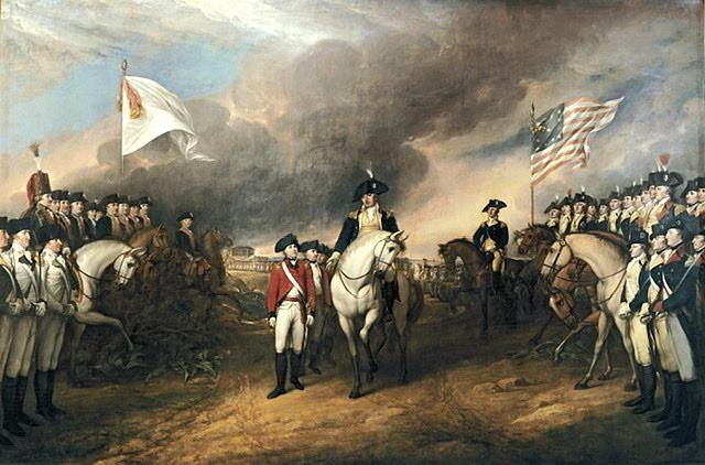 Britain surrenders Revolutionary War