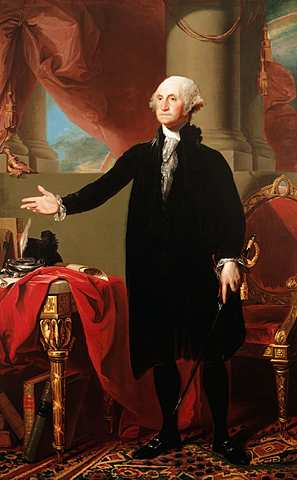 George Washington becomes first president