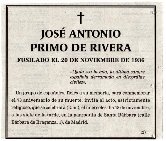 Fusilamiento de José Antonio Primo de Rivera.