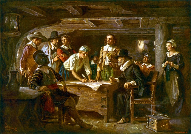 Plymouth established with Mayflower Compact