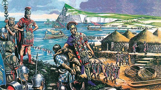 Julio César invade a Britânia (Romanos)