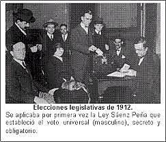 Ley Sáenz Peña