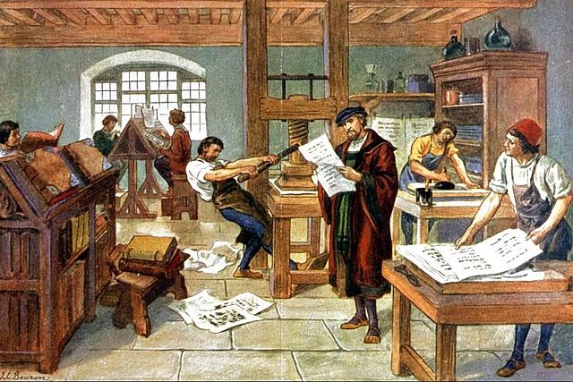 La invención de la Imprenta (Johannes Gutenberg)